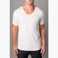 {Antimatter} V-Neck Tee in Impeccable White
