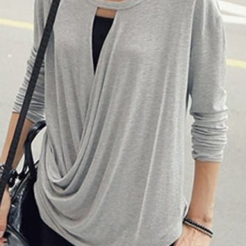 Scoop Neck Long Sleeve T-Shirt