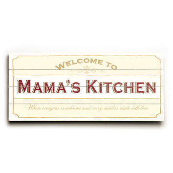 Personalized Mama's Kitchen Wood Sign