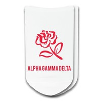 Alpha Gamma Delta - Sorority Icon No-Show Socks