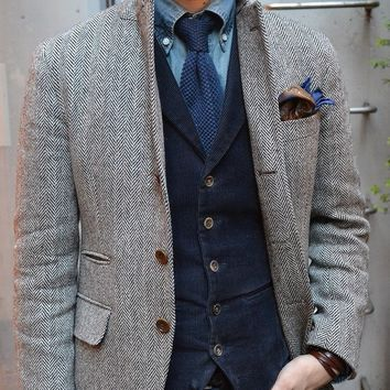 Mens Tweed Jacket Custom Made To Measure Men,Grey Mens Herringbone Coat,Custom Mens Tweed Coat Tweed Fall Winter Coat