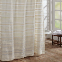 Jasmine Creme Shower Curtain