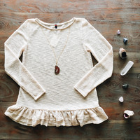 A Soft Knit Spring Tunic in Oatmeal