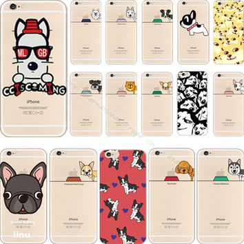 5 5S SE Unique Styles Pattern Dogs Silicon Phone Back Cover Case For Apple iPhone 5 5S SE iPhone5S Cases Shell 2016 Top Fashion