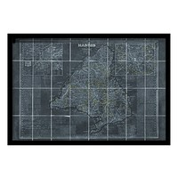 Oliver Gal 'Map of Madrid 1861' Framed Art Print - Black