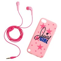 Girls Star Earbuds & iTouch Case Set