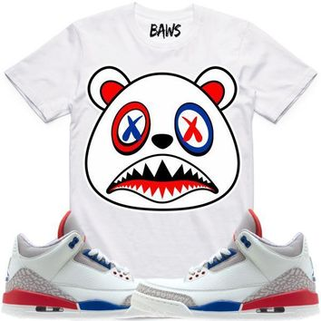 USA BAWS Sneaker Tees Shirt - Jordan 3 International Flight