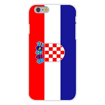 Apple iPhone 6 Custom Case White Plastic Snap On - Croatia - World Country National Flags