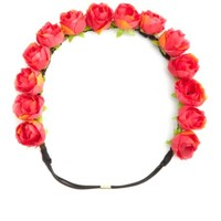 ROSY FLOWER CROWN HEAD WRAP