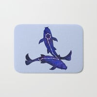 Astrological sign pisces constellation Bath Mat by savousepate