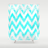 zig-zag Shower Curtain by Marianna Tankelevich | Society6