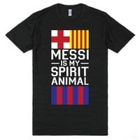 Messi Is My Spirit Animal-Unisex Athletic Black T-Shirt