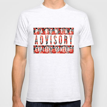 parental advisory explicit content. T-shirt by Sara Eshak
