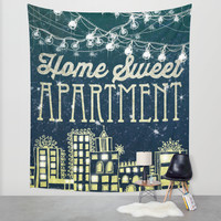 Home Sweet Apartment Wall Tapestry by Jenndalyn