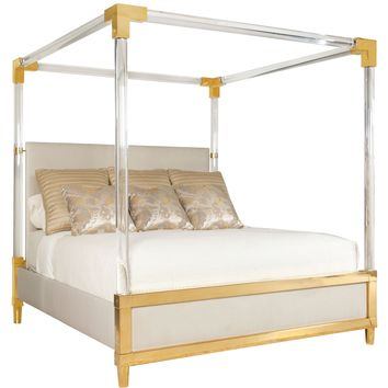 Gold Canopy King Size Bed | Maestro