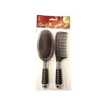 Hair Brush & Comb Set ( Case of 72 )