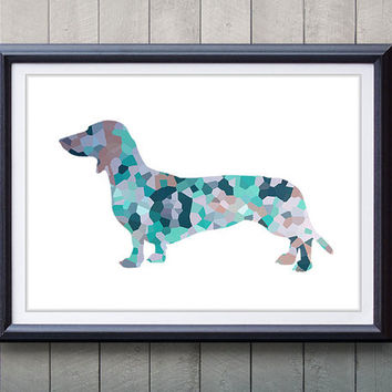 High Quality Dachshund Silhouette Print   Home Living   Animal Painting   Dog Silhouette  Poster   Wall Decor