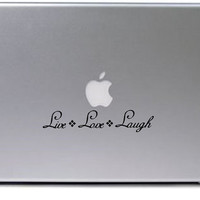 Live Love Laugh Decal / Macbook Decal / Laptop Decal / Laptop Sticker / Macbook Sticker
