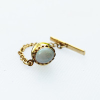 Vintage Opal and Gold Tie Pin