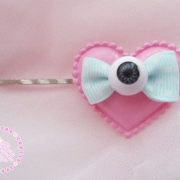 Eyeball hair slide