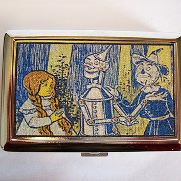 Wizard of Oz metal wallet retro vintage fairy tale cigarette case kitsch
