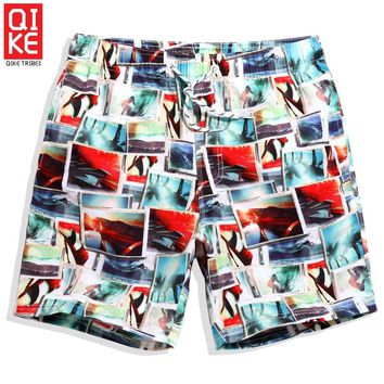 Men's summer stripes beach shorts swimwear surf joggers bathing suit plus size loose fitness plavky surf sexy mesh board shorts