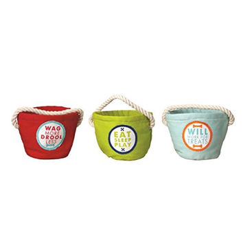 G! Colorful Cotton Dog Treat Caddies - Set of 3