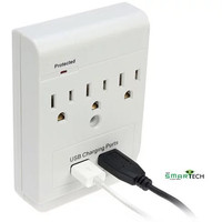 Classic Combo Wall Adapter with 3 AC outlets and a Dual USB ports to charge your gadgets super fast