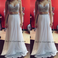 Custom-made Two Piece Prom Dresses, Two Piece Prom Dresses 2016,Two Piece Evening Dresses