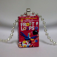 Free Chain - Kawaii Miniature Food Pendant - Mini Fruit Loops Cereals