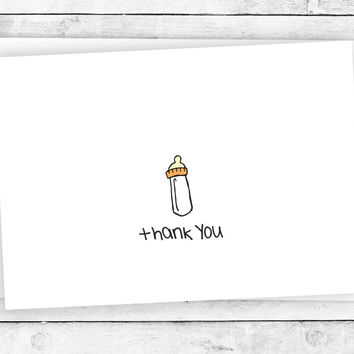Precious Baby Bottle - Thank You Cards