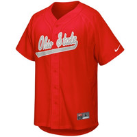 Nike Ohio State Buckeyes College Baseball Replica Jersey - Red