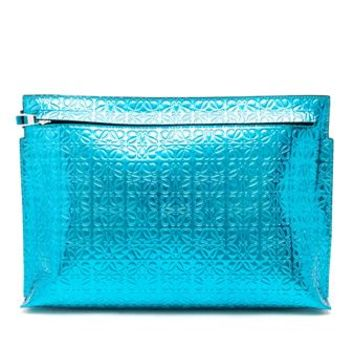 LOEWE   Metallic Logo Clutch   brownsfashion.com   The Finest Edit of Luxury Fashion   Clothes, Shoes, Bags and Accessories for Men & Women