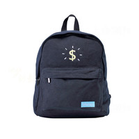 Dollar Sign Canvas Backpack