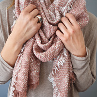Creek Side Blanket Scarf Rose