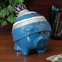 Detroit Lions Piggy Bank - Large With Hat