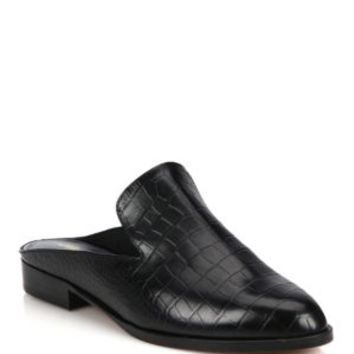 3.1 Phillip Lim - Louie Leather Point-Toe Mules