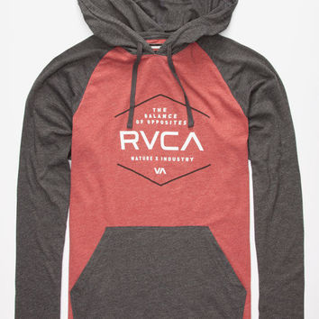 Rvca Graham Pure Mens Lightweight Hoodie Brick  In Sizes