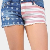 All America Summer Shorts - Blue