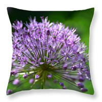 Purple Head Throw Pillow