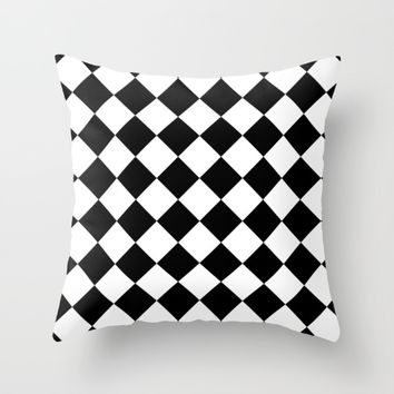 #19 Squares Throw Pillow by Minimalist Forms