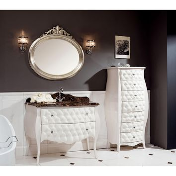 "GM Luxury Prisca 45.3"" Bath Vanity Cabinet Set Single Sink Glossy Lacquer"