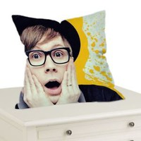 """Fall Out Boy Patrick Stump Decorative Throw Pillow Case Cushion 16 """"18""""20"""" Cover"""