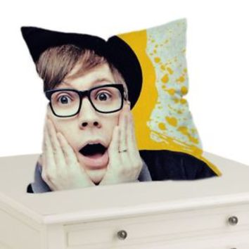 "Fall Out Boy Patrick Stump Decorative Throw Pillow Case Cushion 16 ""18""20"" Cover"