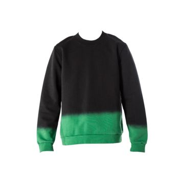Raf Simons Dip Dye Roundneck Sweater (Black/Green) - Mens