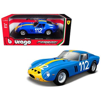 Ferrari 250 GTO Blue #112 1:24 Diecast Model Car by Bburago