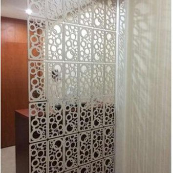 ICIK272 Fashion hanging screen Carved WPC entranceway partition Room dividers Home decoration