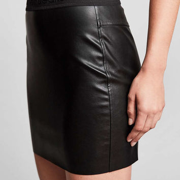 Calvin Klein For UO Vegan Leather Mini Skirt - Urban Outfitters