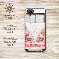 Volkswagen Mini Bus, Floral, iPhone 5 case, iPhone 5C Case, iPhone 5S case, Phone case, iPhone 4 Case, iPhone 4S Case, Phone Skin, 0727