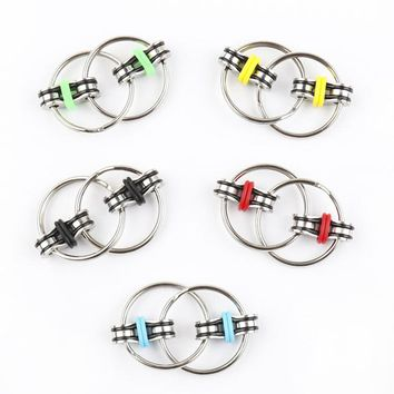 Children's Adult Toys 3CM Key Ring Hand Spinner Tri-Spinner Reduce Stress Everyday Carry Fidget Toy For Autism ADHD